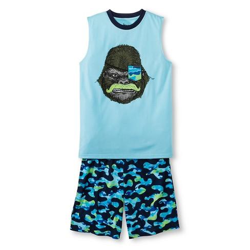 Boys' Moustache Gorilla Short Pajamas - Circo™ Navy S - image 1 of 1