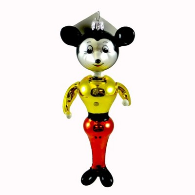 Laved Italian Ornaments Mouse Soldier Mickey Blown Glass  -  Tree Ornaments