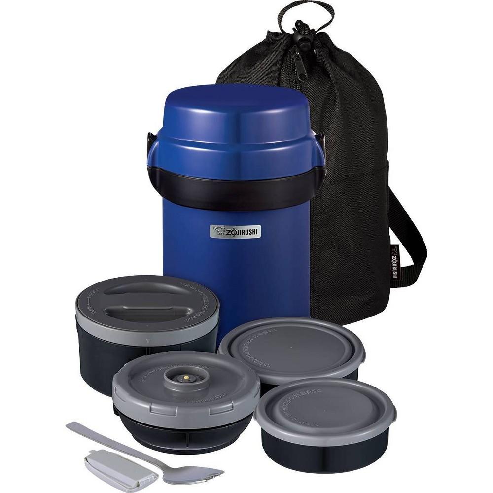 Image of Zojirushi Mr. Bento Stainless Lunch Jar Blue