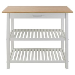 Kitchen Island with Two Shelves - Flora Home