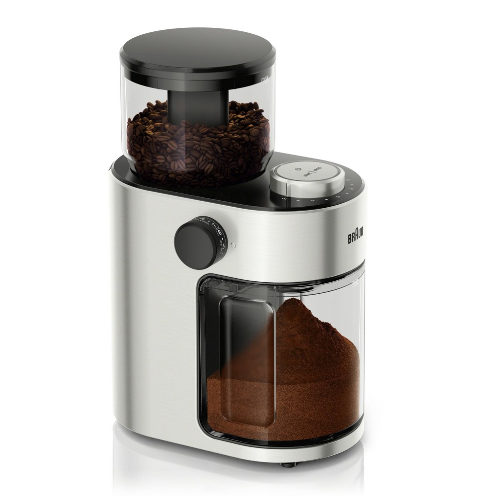 Braun FreshSet 12 Cup Burr Grinder – KG7070 – Black/Stainless Steel, Black/Stainless Steal 54491450