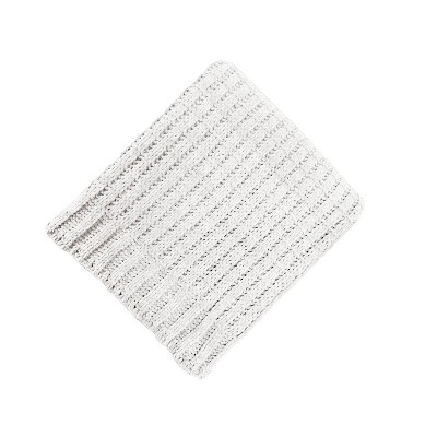 "50""x60"" Solid Chenille Throw Blanket Cream - Threshold™"