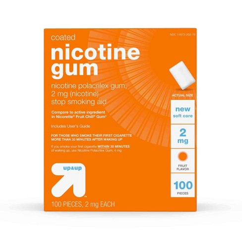 Nicotine 2mg Stop Smoking Aid Fruit Coated Gum - Up&Up™ - image 1 of 4