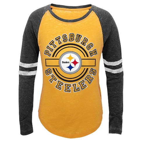 9def93c84c5 Pittsburgh Steelers Girls  Long Sleeve Burn Out T-Shirt - XS   Target