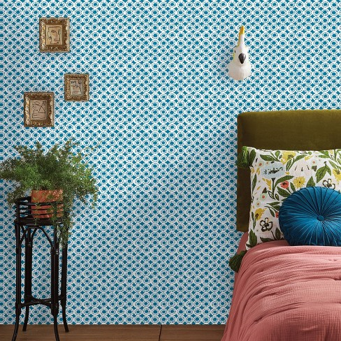 Bouton Soliere Peel & Stick Wallpaper Blue - Opalhouse™ - image 1 of 4
