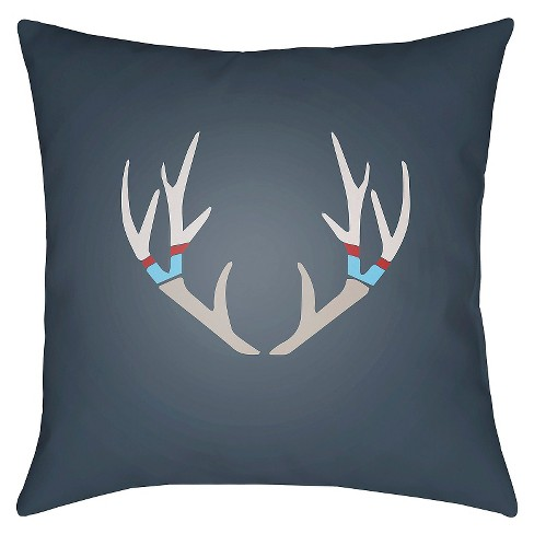 Antlers Throw Pillow - Surya - image 1 of 1