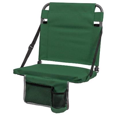 Eastpoint Sports Adjustable Bleacher Backrest Stadium Seat w/ Cup Holder, Green