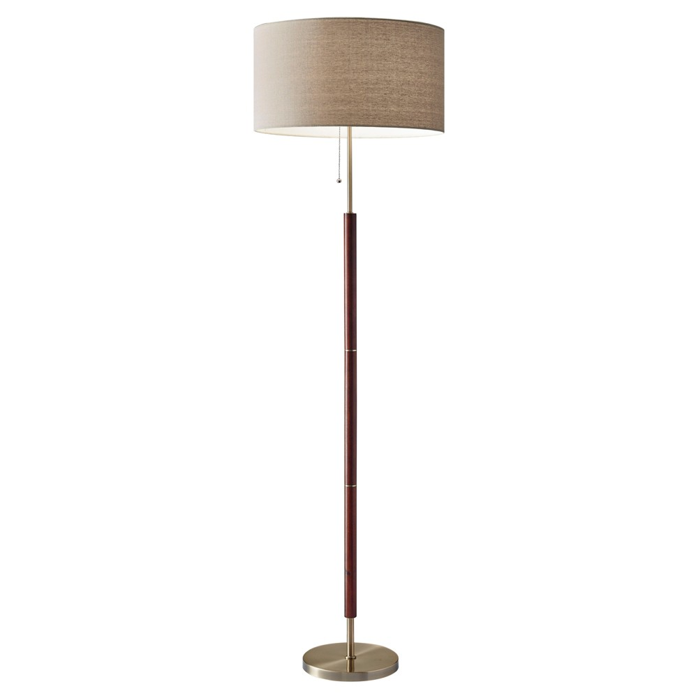 Image of Adesso Hamilton Floor Lamp (Lamp Only) - Brown
