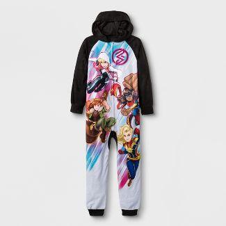 Girls Marvel Rising Blanket Sleeper Union Suit - Black XS