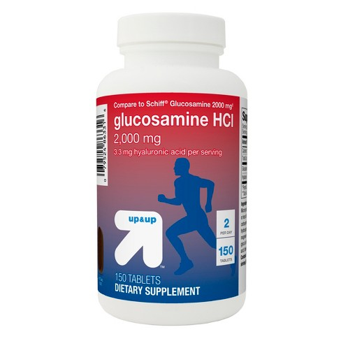 Glucosamine HCl Dietary Supplement Tablets - 150ct - Up&Up™ (Compare to Schiff Glucosamine 2000mg ) - image 1 of 2
