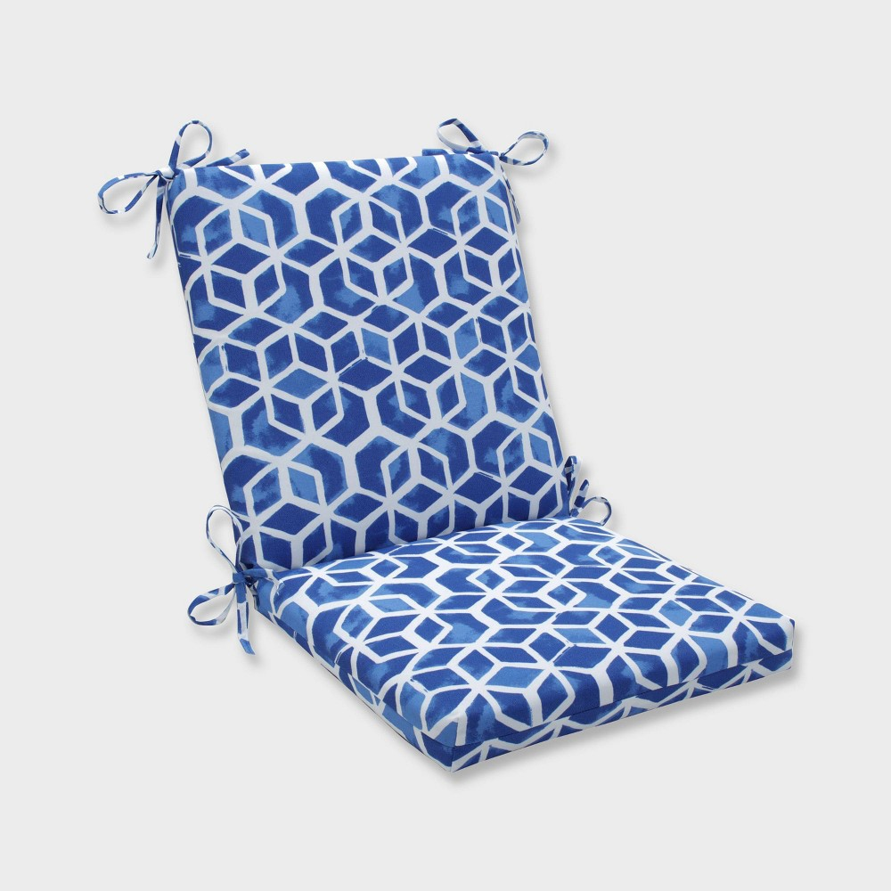Celtic Admiral Squared Corners Outdoor Chair Cushion Blue - Pillow Perfect