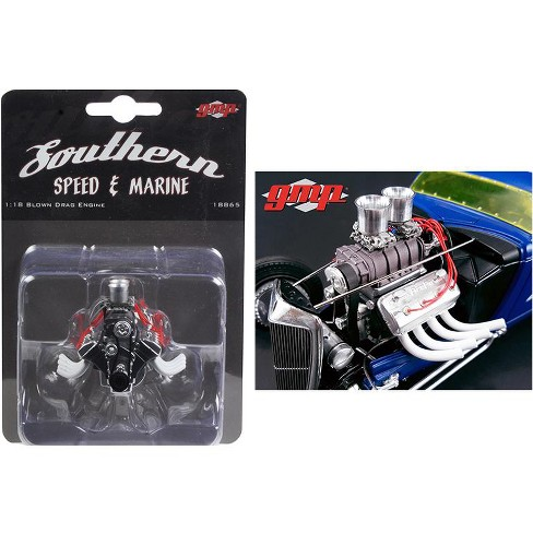 Blown Altered Drag Engine and Transmission Replica from 1934 Blown Altered Coupe 1/18 by GMP - image 1 of 1
