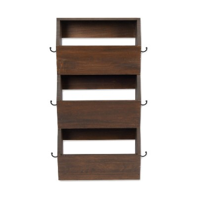 Vertical Bins with Hooks Brown - Threshold™