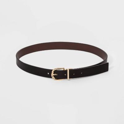 Women's Reversible Belt - A New Day™ Brown/Black