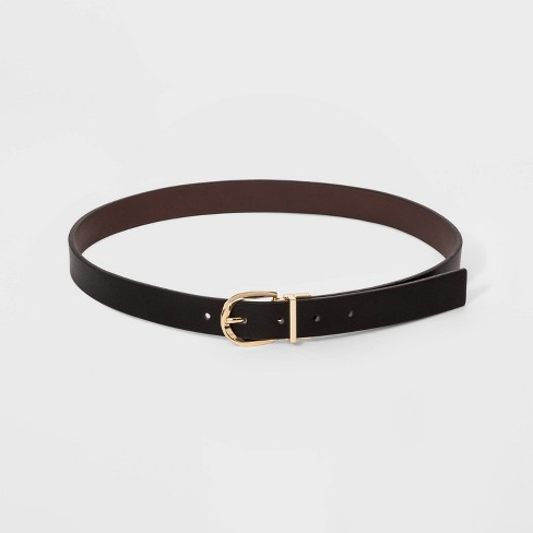 Women's Reversible Belt - A New Day™ Brown/Black - image 1 of 2