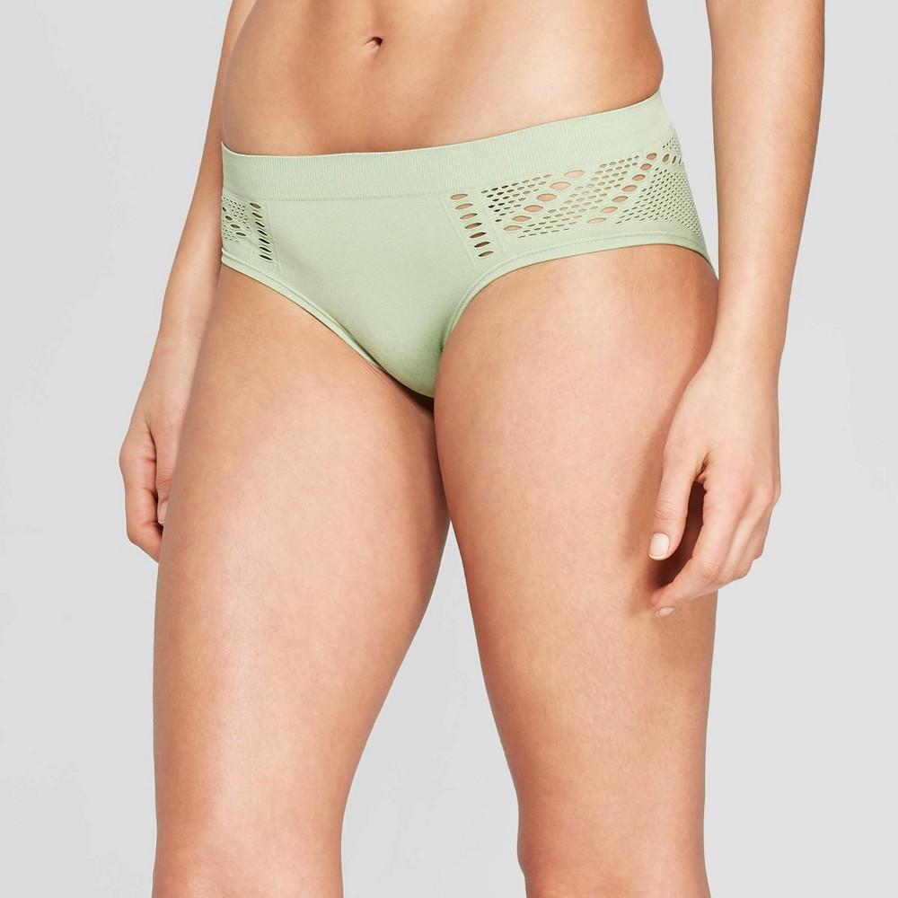 21d8efe6653f Womens Seamless Bikini with Mesh Auden Kiwi Green XL