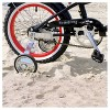 """Firmstrong Mini Bruiser 16"""" Kids' Cruiser Bike with Training Wheels - Black with Red Rims - image 3 of 4"""