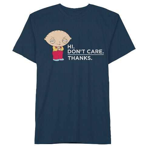 Men's Stewie Don't Care T-Shirt Navy - image 1 of 1