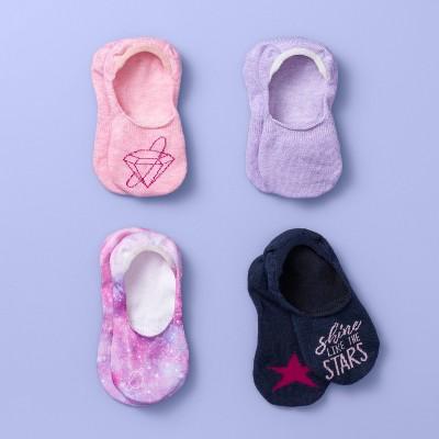 Girls' 4pk Liner Socks - More Than Magic™ Assorted Colors L