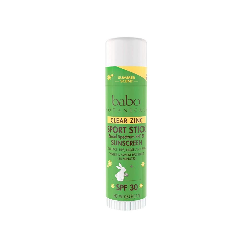 Image of Babo Botanicals Clear Zinc Sport Sunscreen Stick - SPF 30 - 0.6oz
