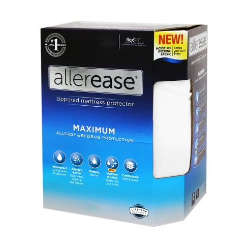 Maximum Mattress Protector White - AllerEase - image 1 of 4