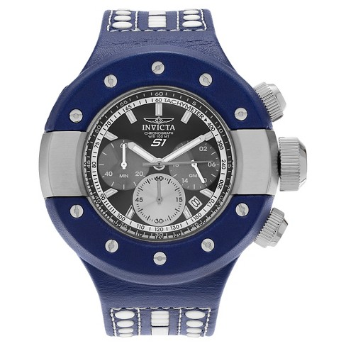 Men's Invicta 19178 S1 Rally Quartz Chronograph Blue Dial Strap Watch - Blue - image 1 of 3