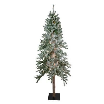 Northlight 7' Prelit Artificial Christmas Tree Flocked Alpine - Clear Lights