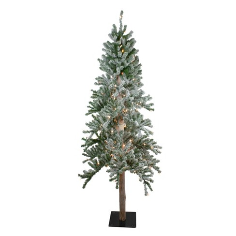 Northlight 7' Prelit Artificial Christmas Tree Flocked Alpine - Clear Lights - image 1 of 4