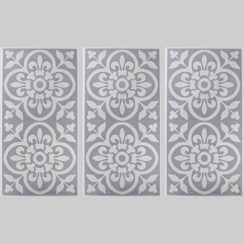 3pk 6pc Tile Decals Gray - Bullseye's Playground™ - image 1 of 1