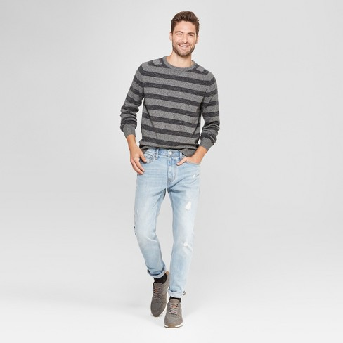3526e48529563 Men s Standard Fit Crew Neck Sweater - Goodfellow   Co™ Charcoal Heather    Target