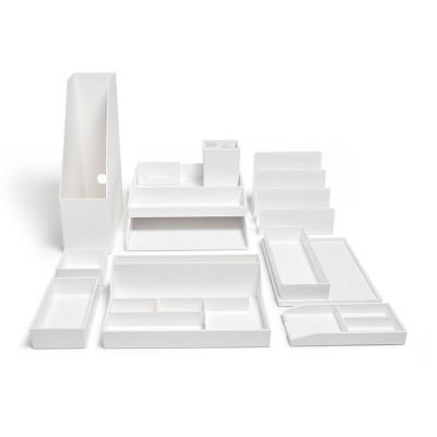 TRU RED 12-Piece Plastic Desk Set White TR55301
