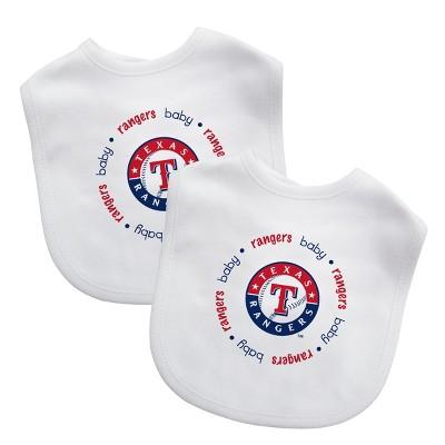 MLB Texas Rangers 2pk Bib Set
