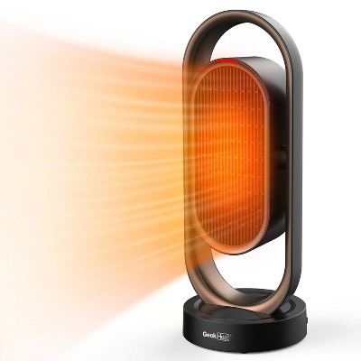 Geek Heat Portable Whole Room Tower Ceramic Heater with Overheat Protection for Home, Office, Living Room, and Bedroom, Black