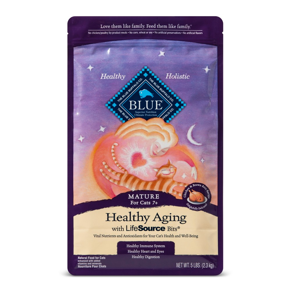 Blue Buffalo Healthy Aging Mature Chicken & Brown Rice - Dry Cat Food - 5lb bag