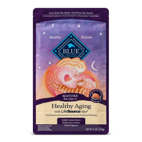 Blue Buffalo Healthy Aging Mature Chicken & Brown Rice - Dry Cat Food - 5lb bag - image 1 of 2