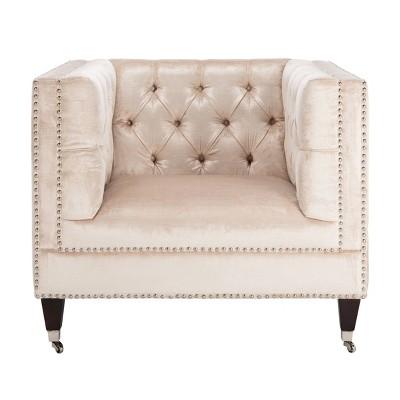 Miller Tufted Velvet Chair - Safavieh