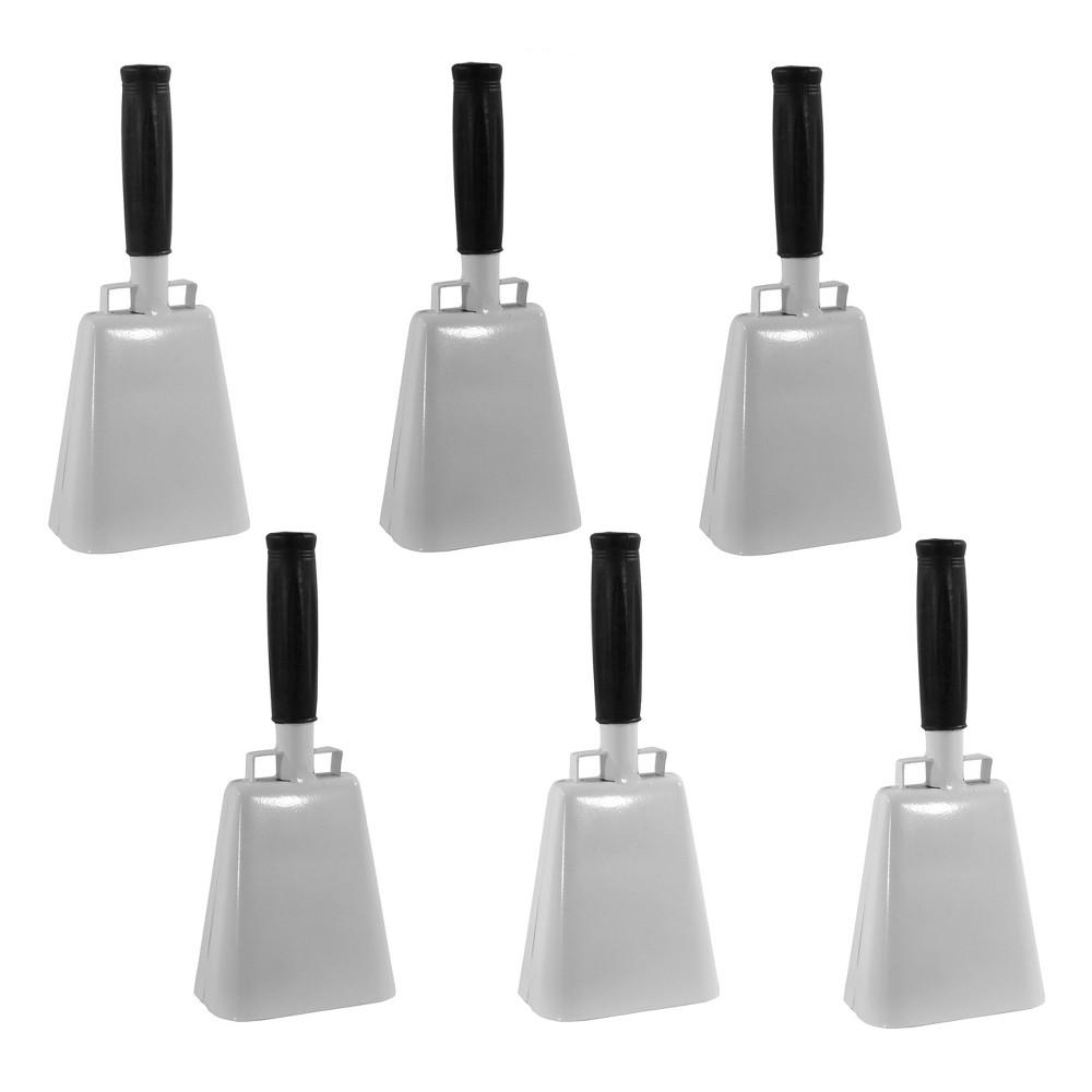 "Image of ""Metal 10"""" 6pk Metal Customizable Cowbell Set - White - Buffalo Tools"""
