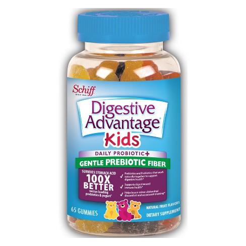 Kid's Digestive Advantage Gentle Prebiotic + Fiber Gummies - Fruit - 65ct - image 1 of 1