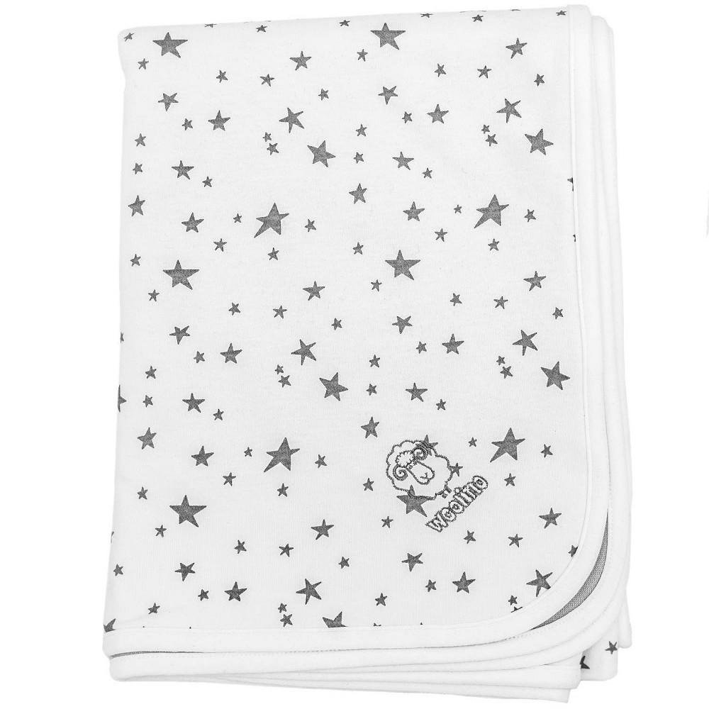 Woolino Organic Cotton Stroller Blanket Stars