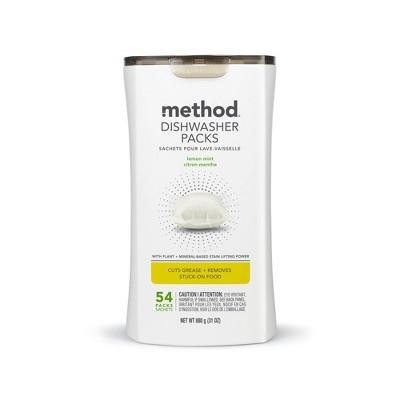 Method Dishwasher Packs - Lemon Mint - 54ct