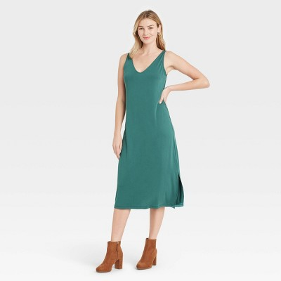 Women's Slim Fit Sleeveless Knit Dress - A New Day™