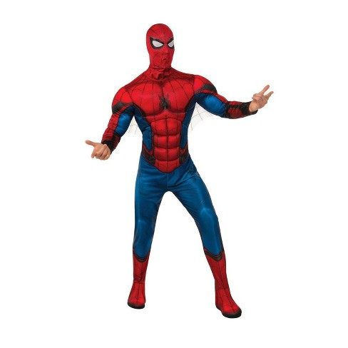 Men's Marvel Spider-Man: Far From Home Red/Blue Deluxe Halloween Costume XL - image 1 of 1