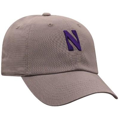 NCAA Northwestern Wildcats Men's Gray Garment Washed Canvas Hat