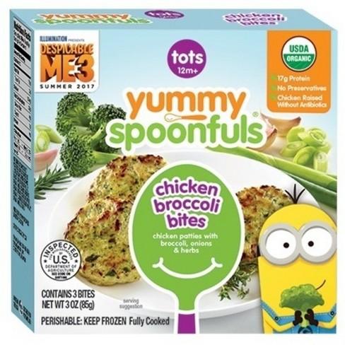 Yummy Spoonfuls Organic Stage 3 Frozen Chicken Broccoli Bites Baby