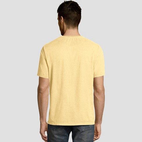 536ac292e17d Hanes Men's Short Sleeve 1901 Garment Dyed Pocket T-Shirt - Squash S ...