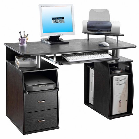 Complete computer workstation desk with storage techni for Store mobili online