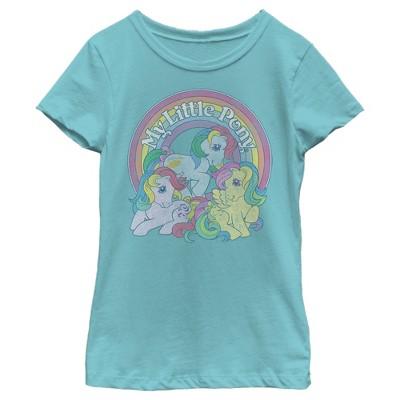 Girl's My Little Pony Retro Rainbow Friends T-Shirt