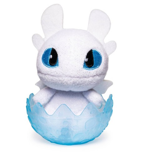 """DreamWorks Dragons Legends Evolved Baby Light Fury 3"""" Collectible Plush in Egg - image 1 of 3"""