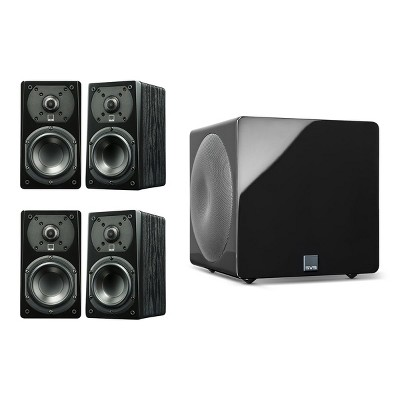 SVS Prime Satellite 4.1 Speaker Package with 3000 Micro Subwoofer (Premium Black Ash/Piano Black)