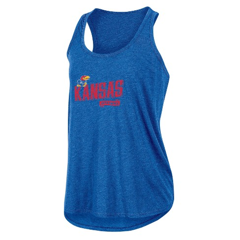 NCAA Women's Gameday Heathered Racerbank Soft Touch Poly Tank Top Kansas Jayhawks - image 1 of 1